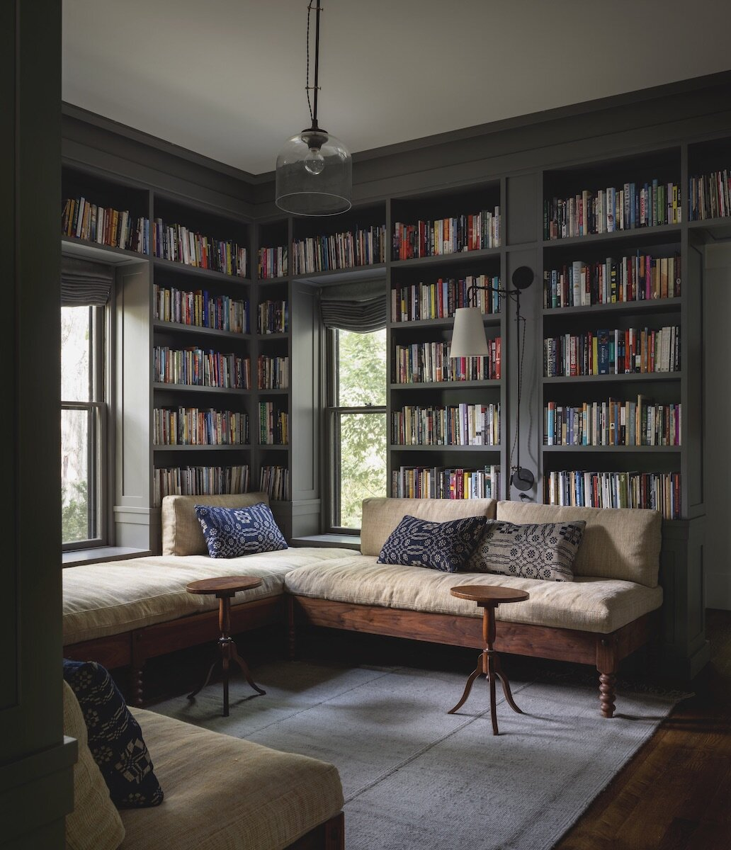Reading Nooks in a Stylish Iowa City Home