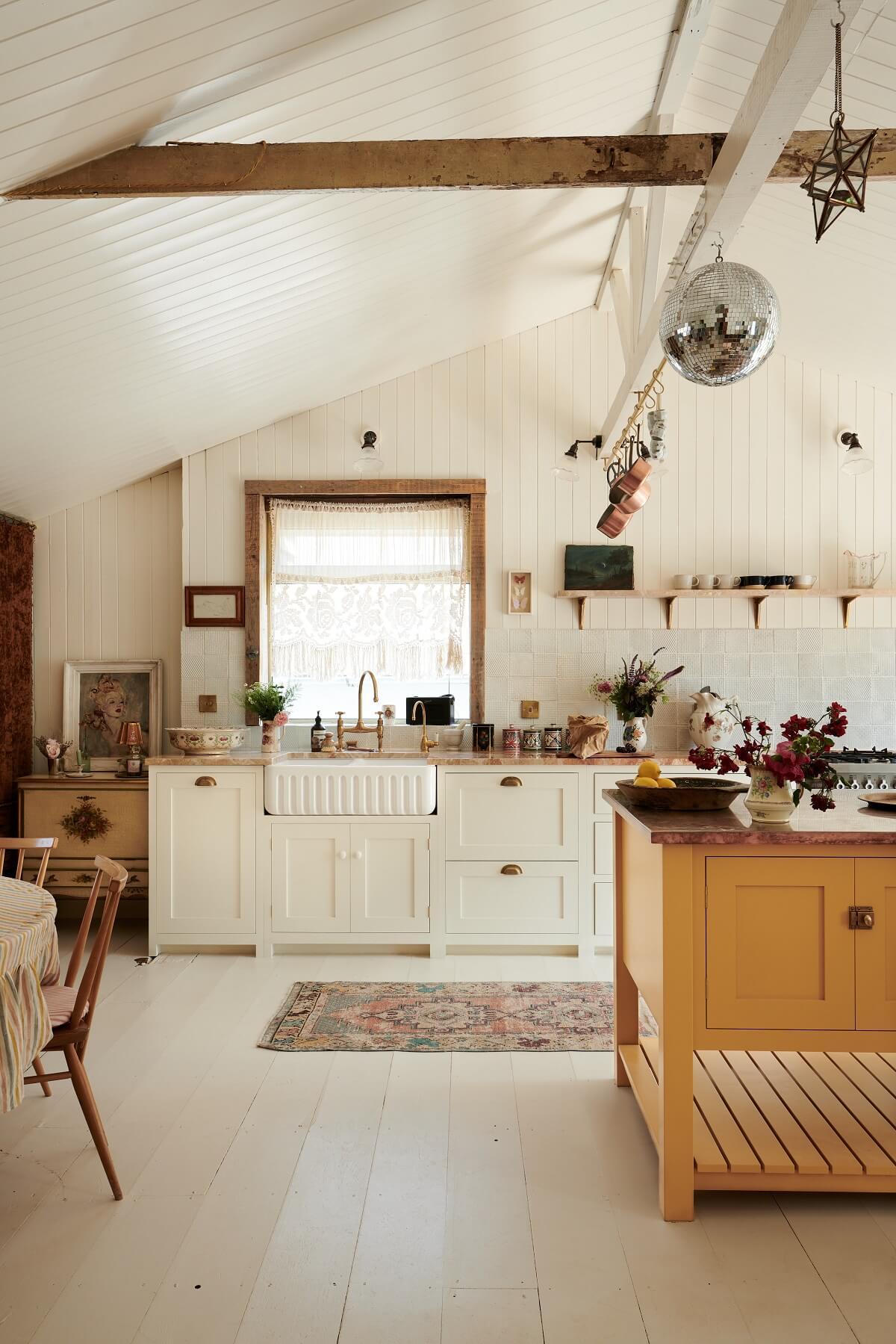 Pearl Lowe's Light Bohemian Beach House Kitchen