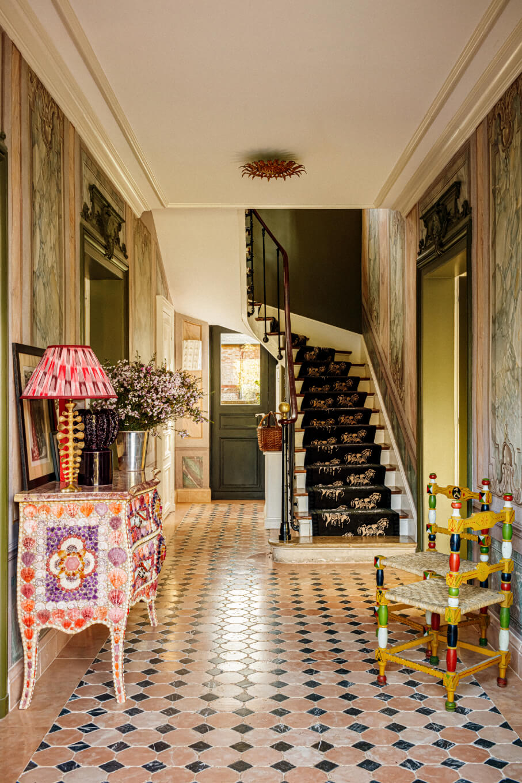 eclectic-hallway-villa-france-nordroom