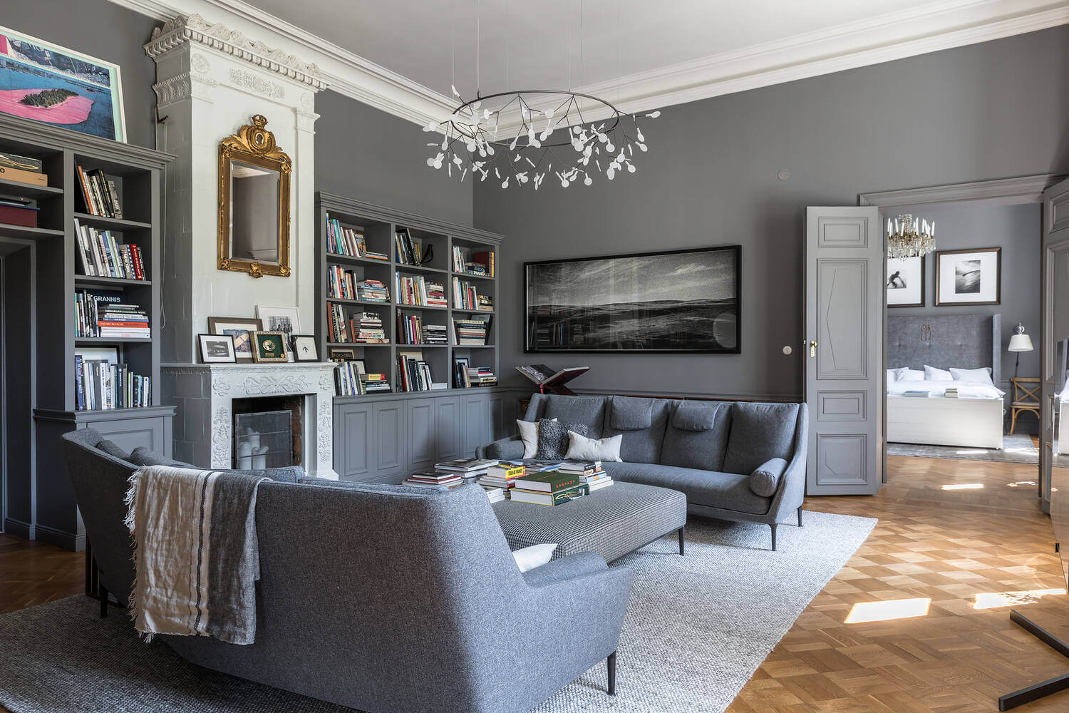 gray-living-room-fireplace-swedish-apartment-nordroom