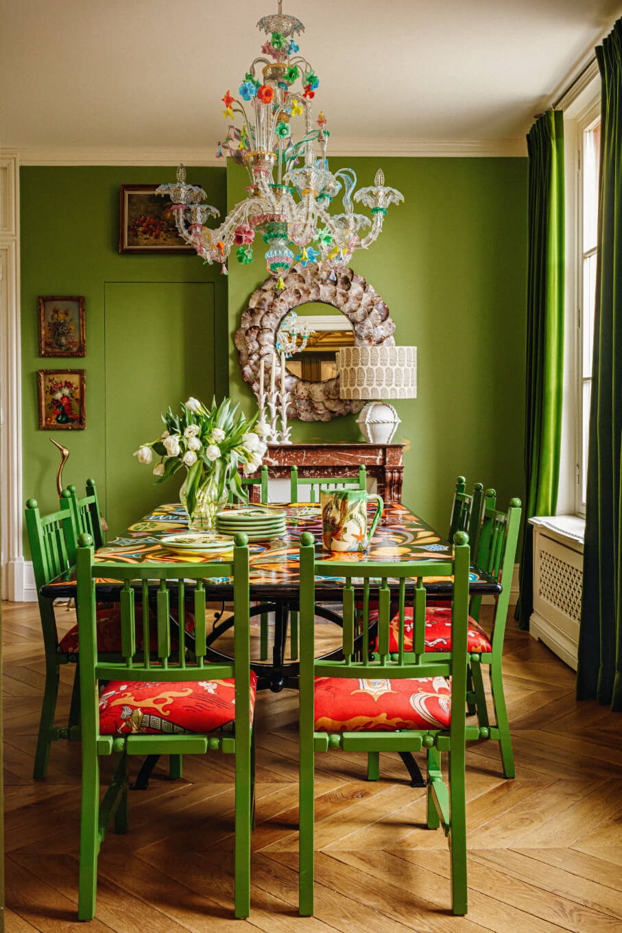 green-dining-room-eclectic-villa-france-nordroom