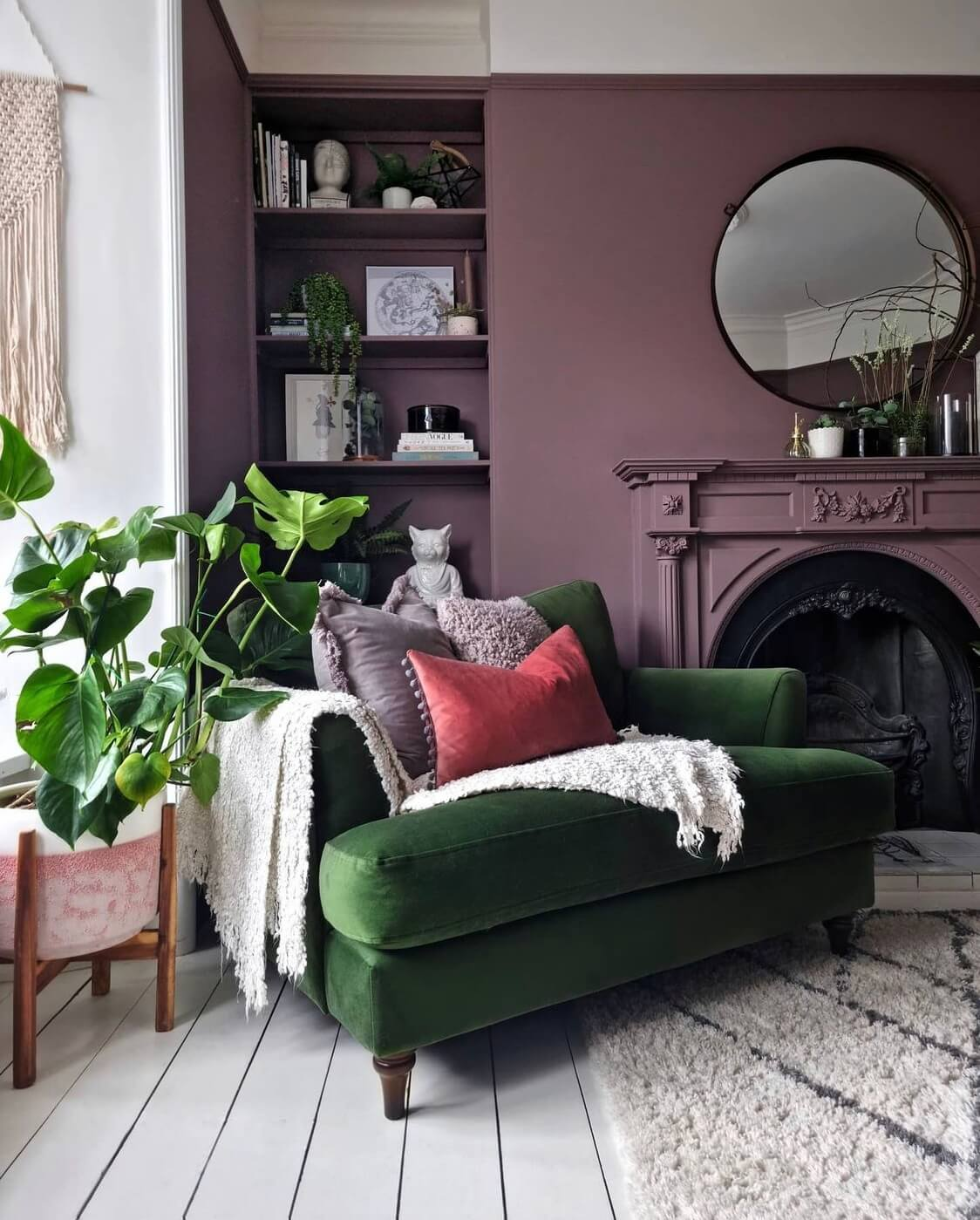 green-velvet-armchair-purple-living-room-nordroom