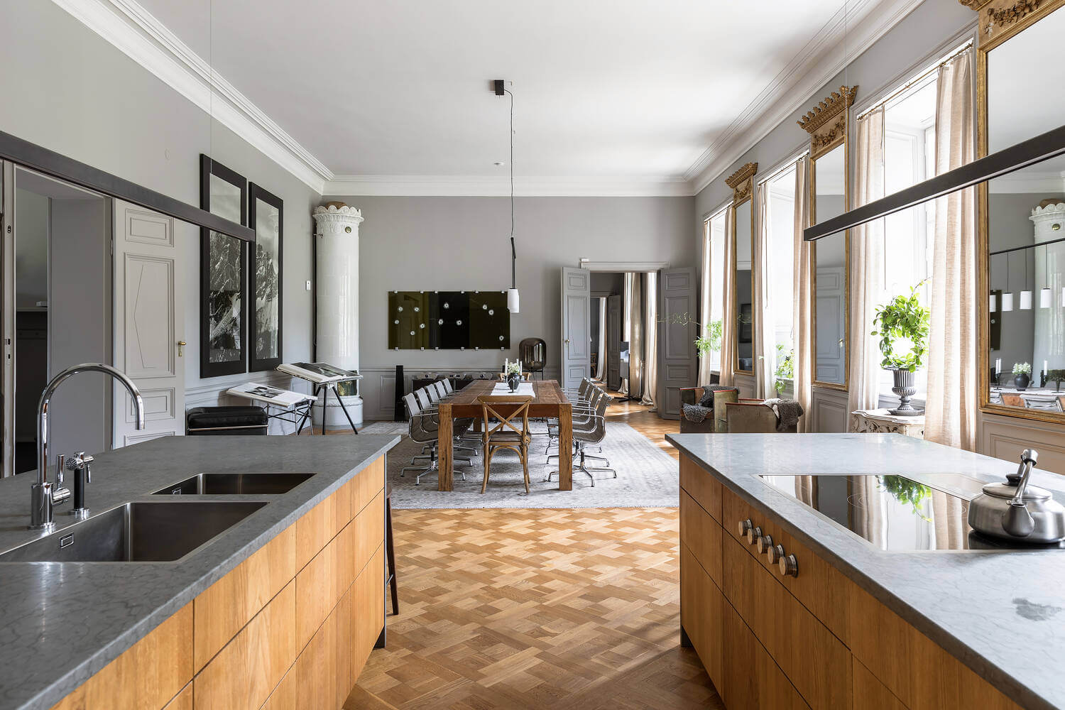 kitchen-dining-gray-apartment-sweden-nordroom
