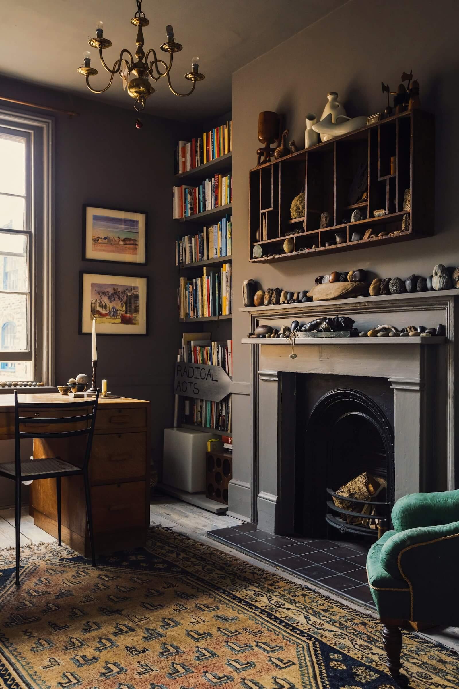 Moody Colors in a Unique Historic Apartment