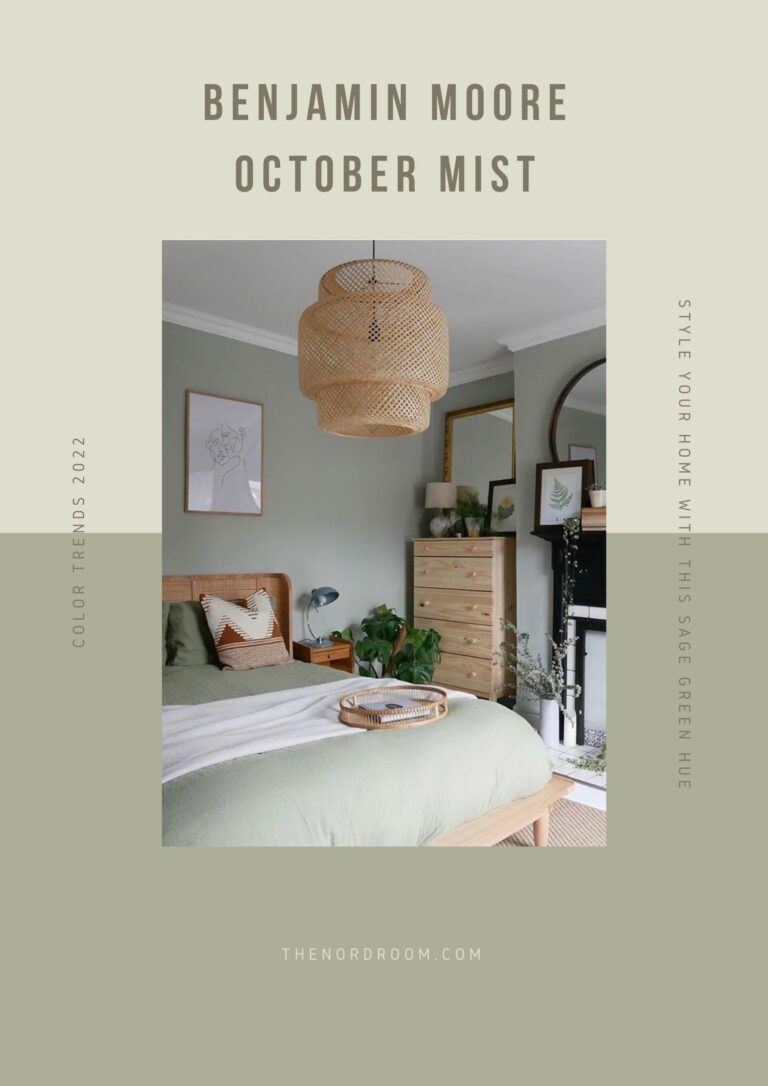 Benjamin Moore Color of the Year 2022: October Mist
