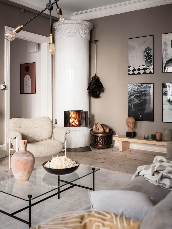 A Stylish Gray Scandinavian Apartment