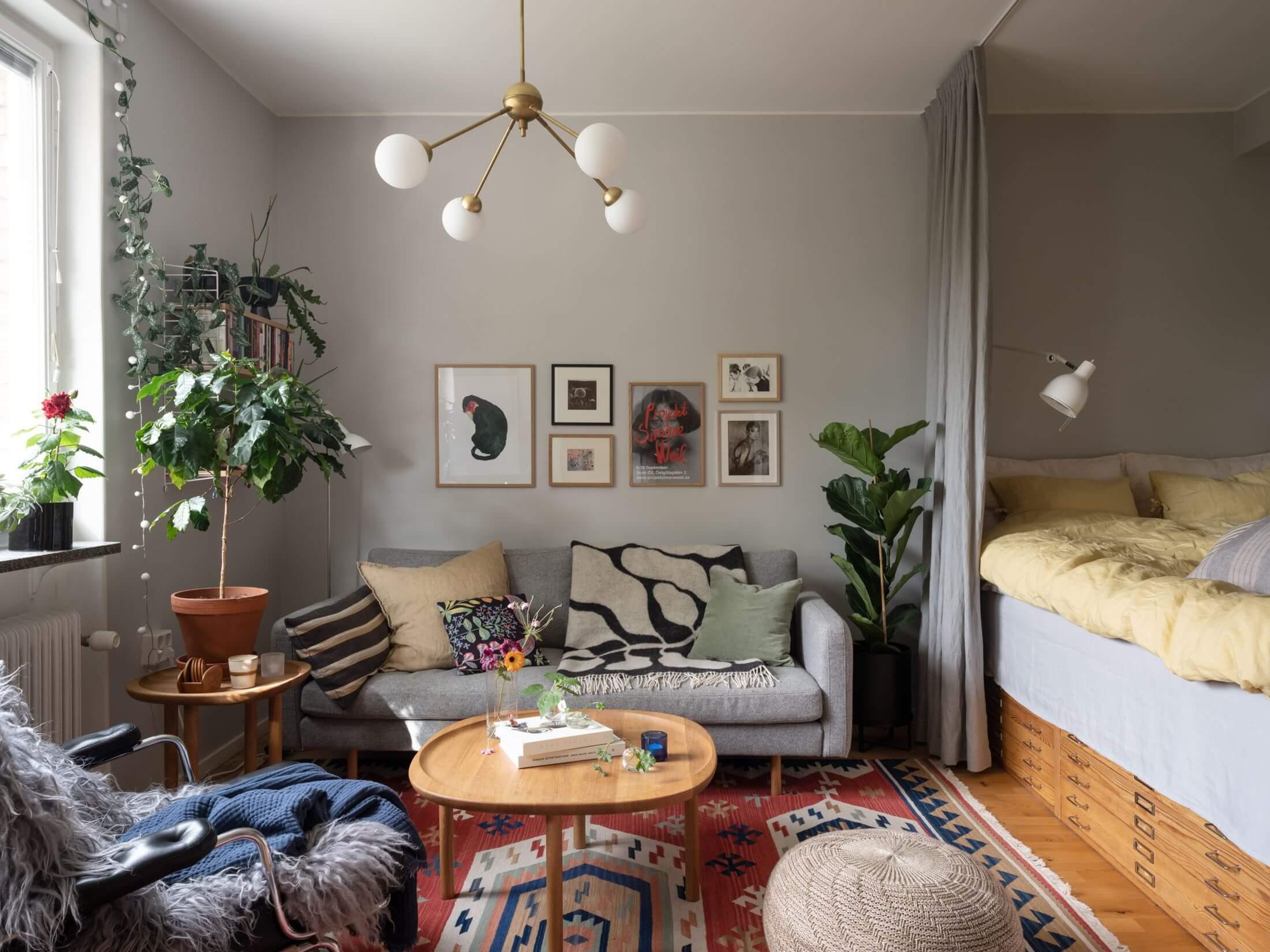 A Midcentury Studio Apartment in Sweden